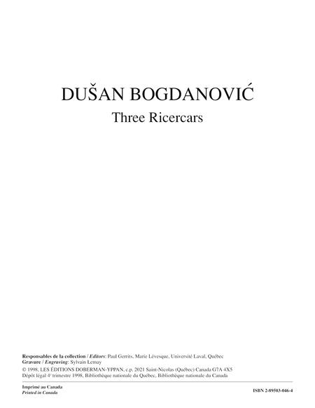 Three Ricercars