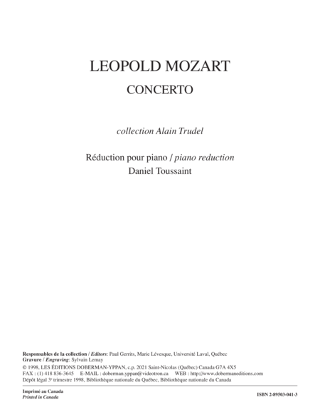 Concerto for trombone (piano reduction)