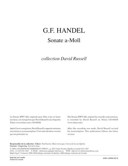 Sonate op. 1 no. 4, HWV 362