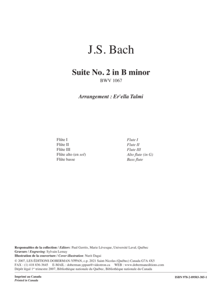 Suite No. 2 in B minor BWV 1067