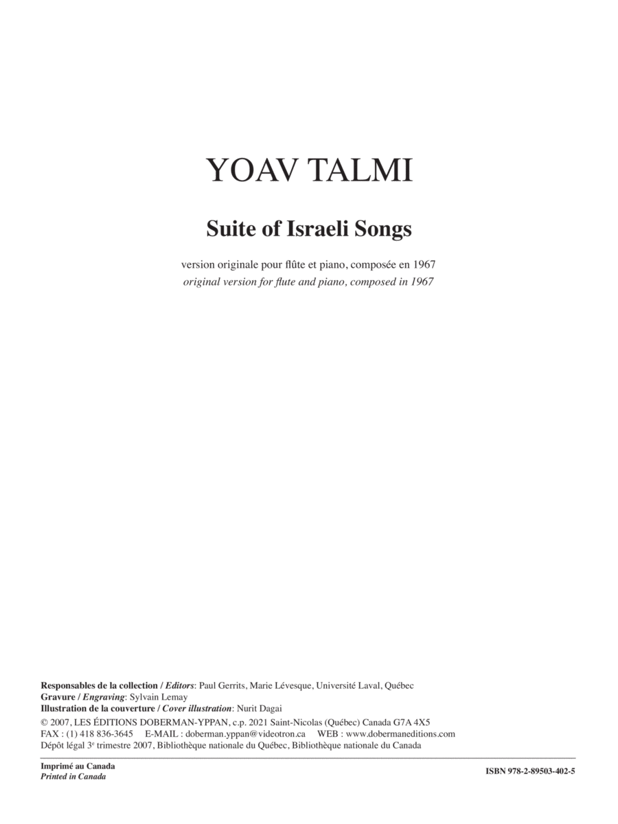 Suite of Israeli Folk Songs