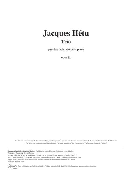 Trio pour hautbois, violon et piano opus 82