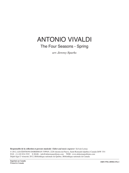 The Four Seasons - Spring