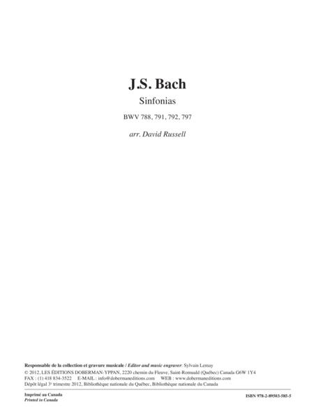 Sinfonias BWV 788, 791, 792, 797