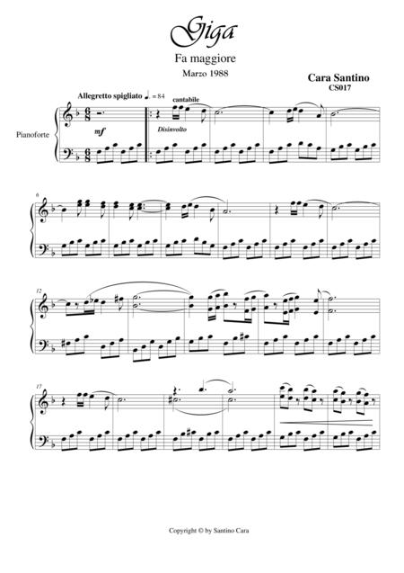 Giga in F major for piano - CS017