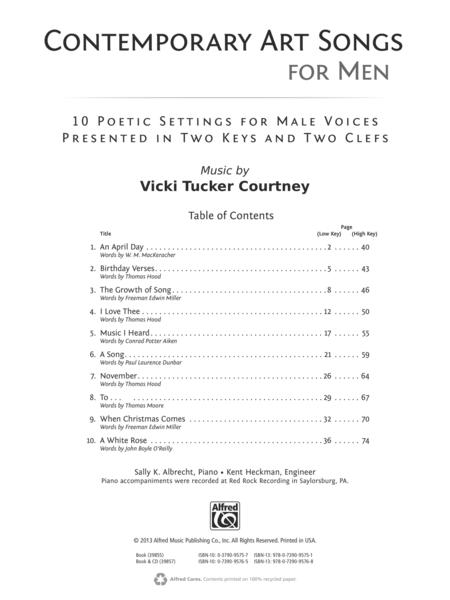 Contemporary Art Songs for Men