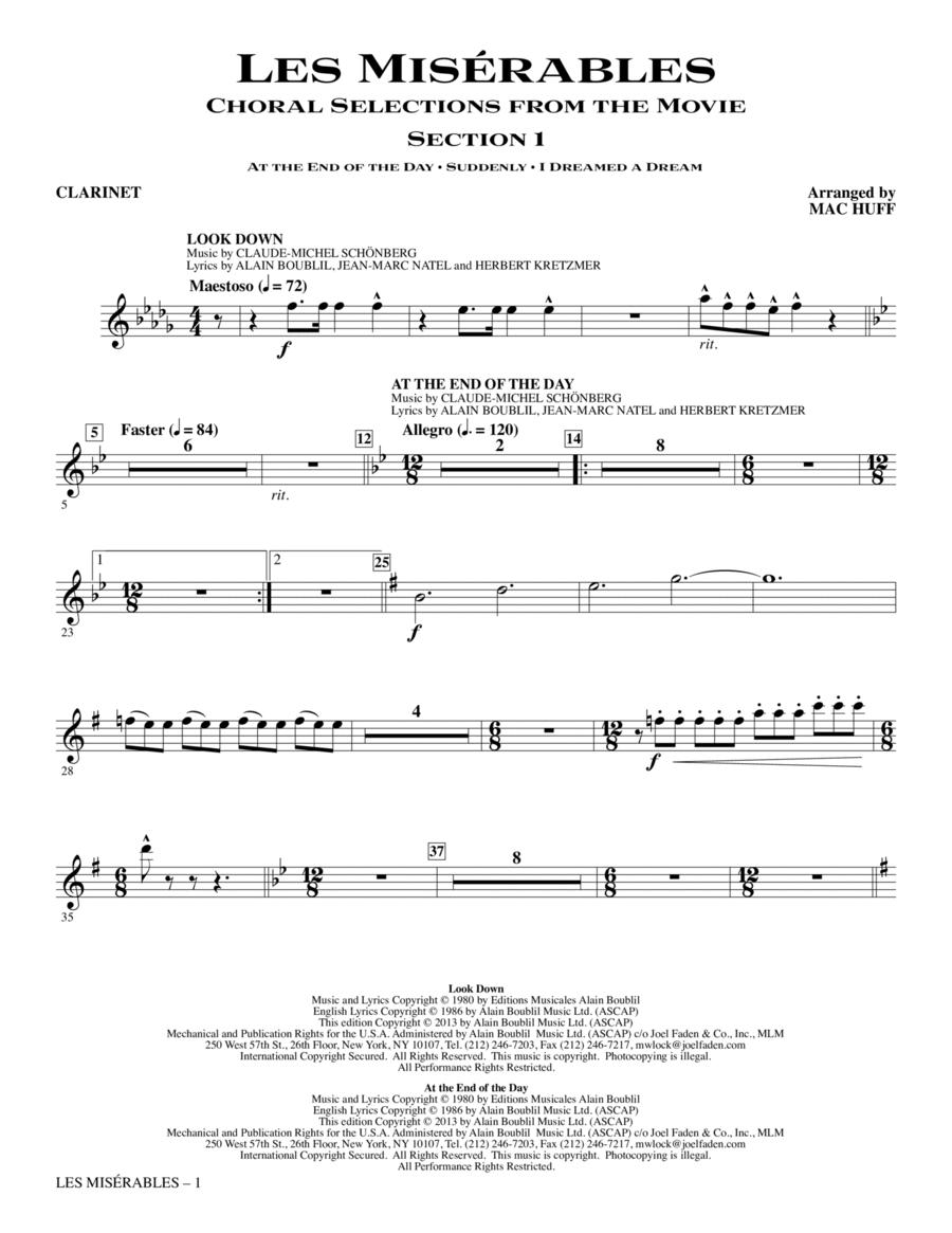 Les Miserables - Clarinet