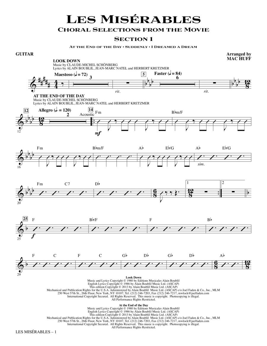 Les Miserables - Guitar