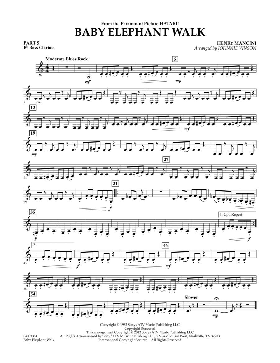 Baby Elephant Walk - Pt.5 - Bb Bass Clarinet