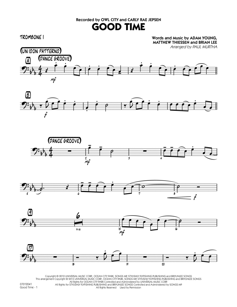 Good Time - Trombone 1