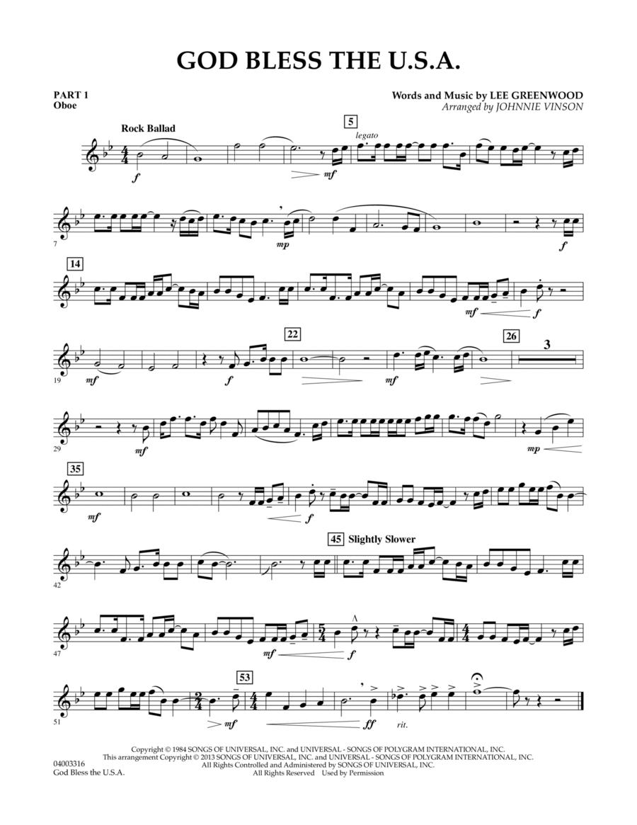 God Bless The U.S.A. - Pt.1 - Oboe