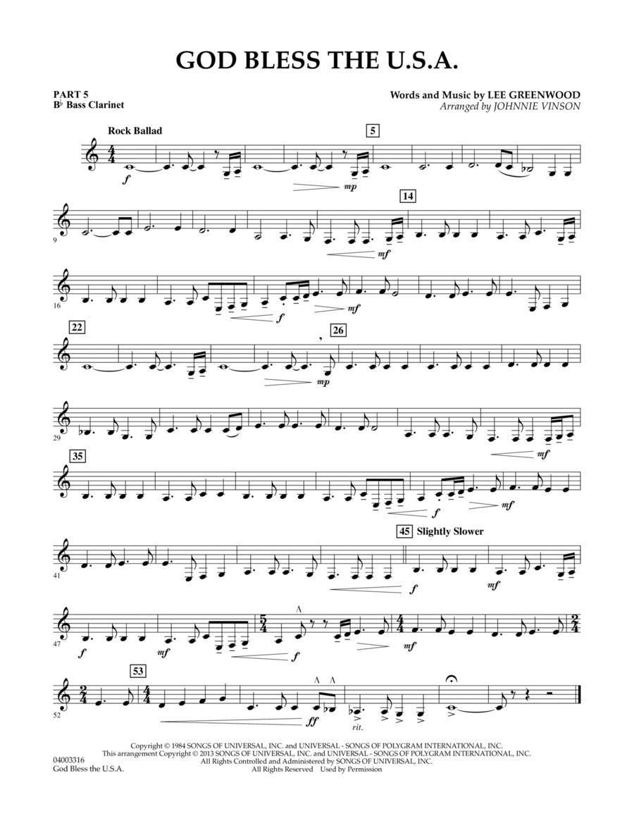 God Bless The U.S.A. - Pt.5 - Bb Bass Clarinet