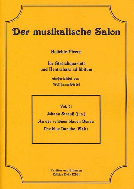 An der schonen blauen Donau fur Streichquartett op. 314