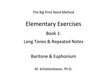 Elementary Exercises