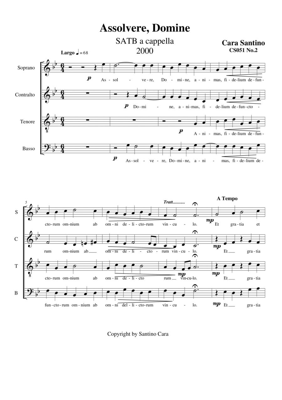 Assolvere, Domine - Choir SATB a cappella