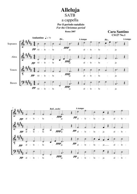 Alleluja - Choir SATB a cappella