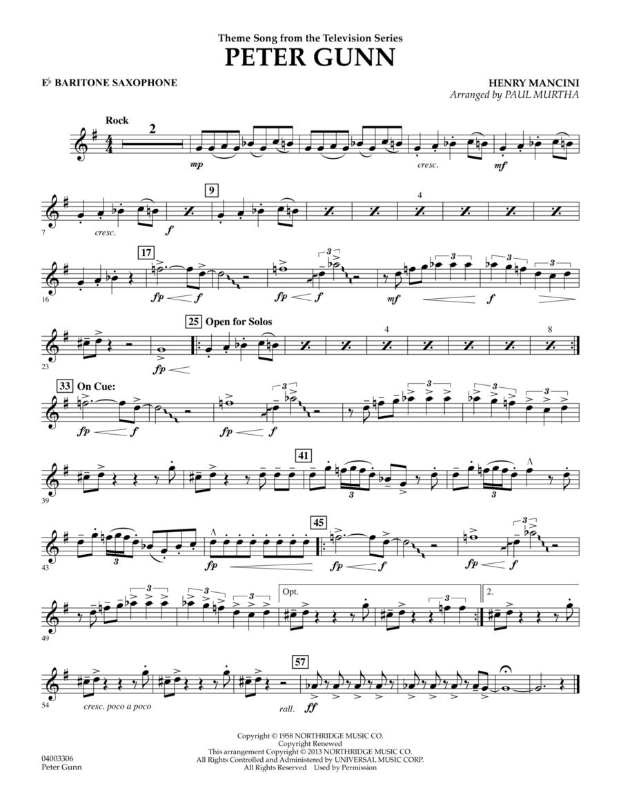 Peter Gunn - Eb Baritone Saxophone