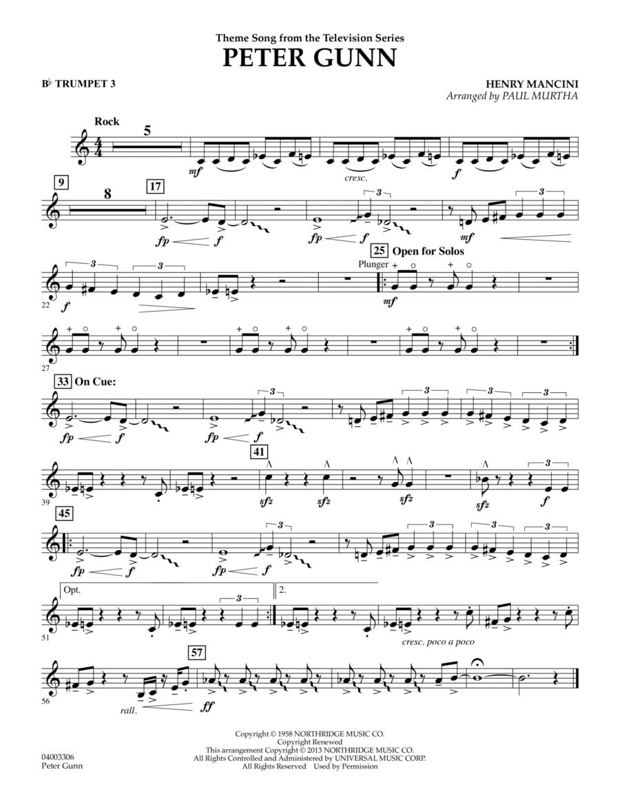 Peter Gunn - Bb Trumpet 3