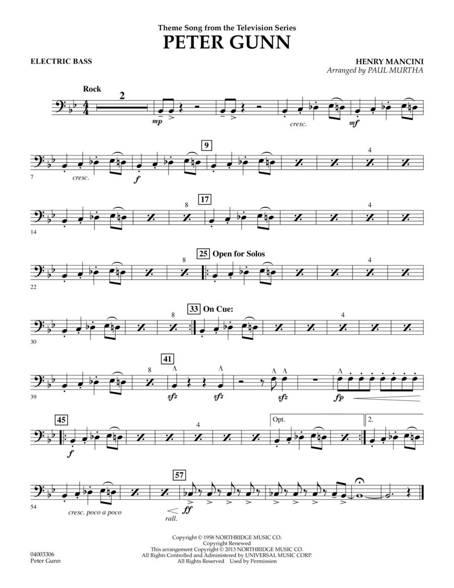 Peter Gunn - Electric Bass