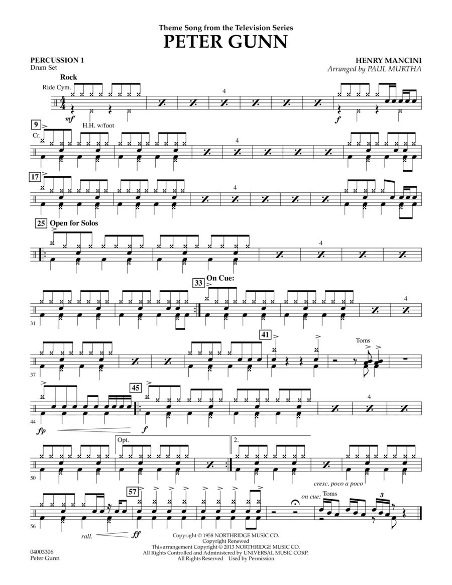 Peter Gunn - Percussion 1