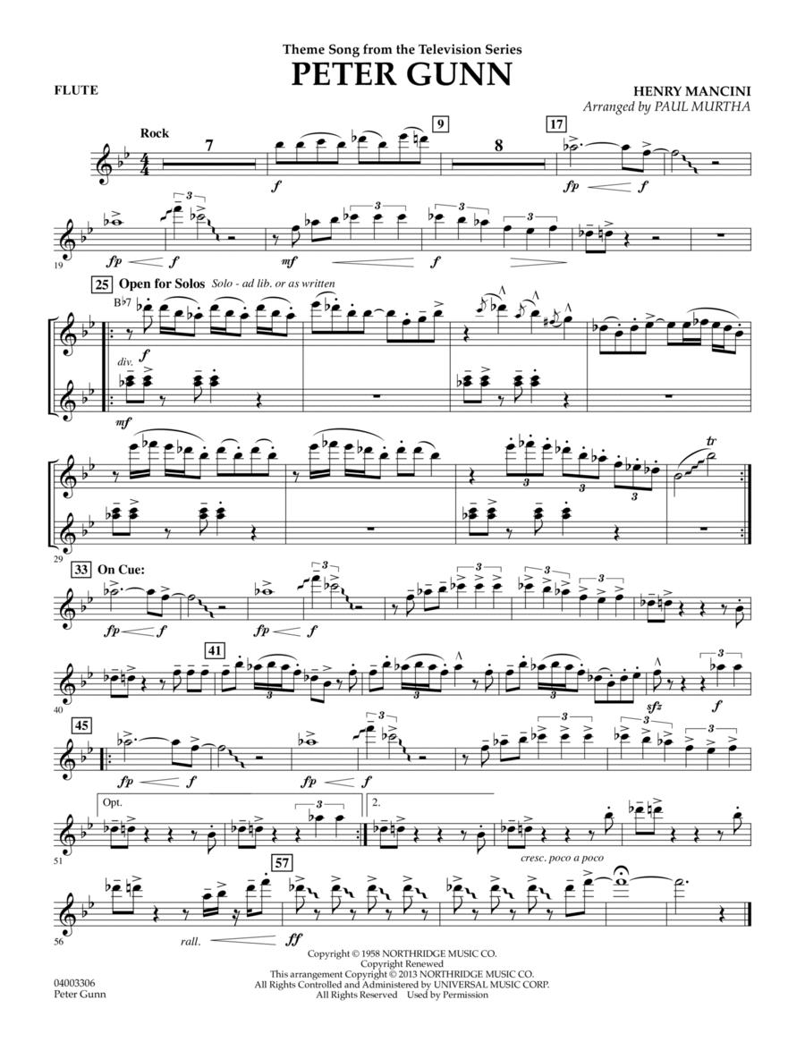 Peter Gunn - Flute