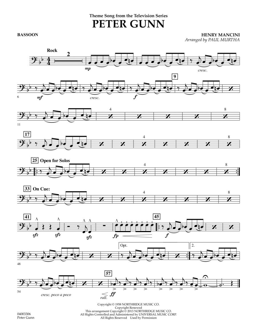Peter Gunn - Bassoon