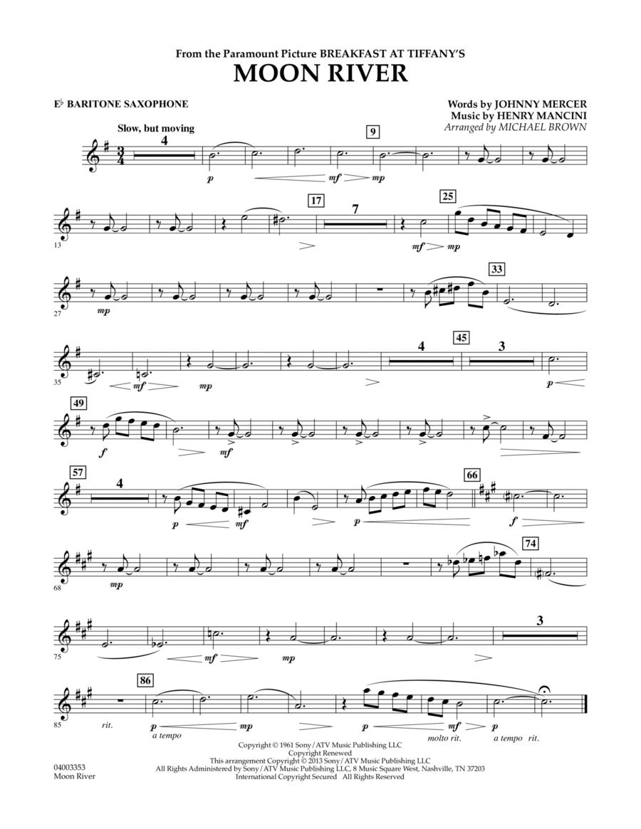 Moon River - Eb Baritone Saxophone