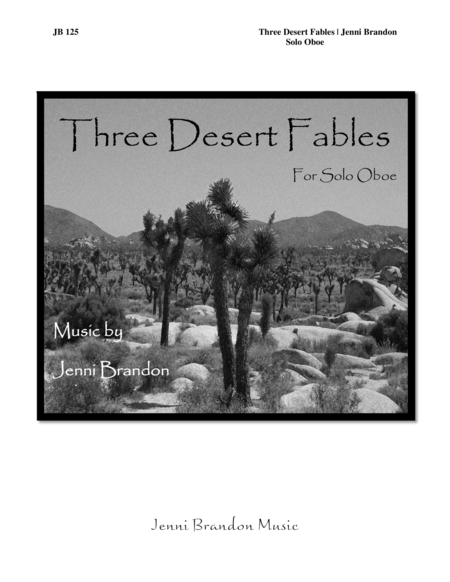Three Desert Fables for solo oboe