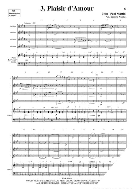 4 Violons & Piano Vol. 8