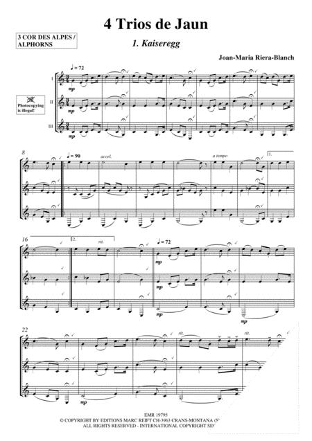 4 Trios de Jaun