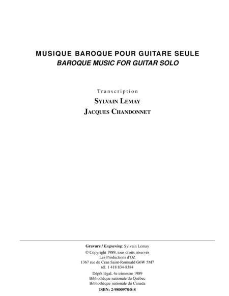 Musique baroque pour guitare seule