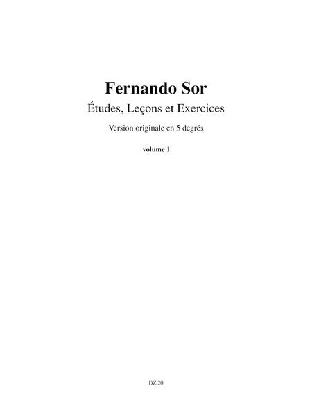 Etudes, lecons et exercices, vol. 1