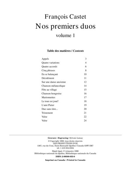 Nos premiers duos, vol. 1