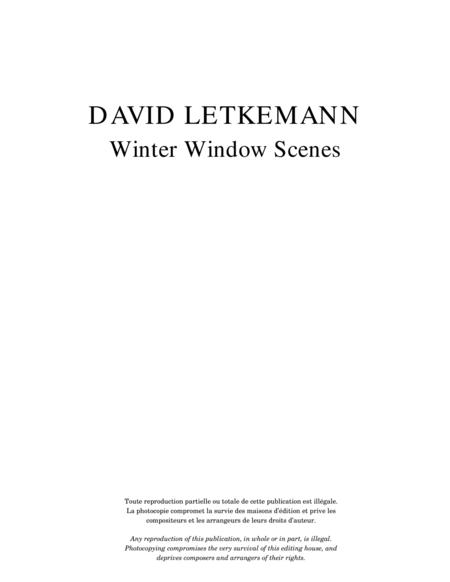 Winter Window Scenes, opus 1