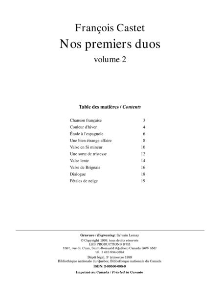 Nos premiers duos, vol. 2