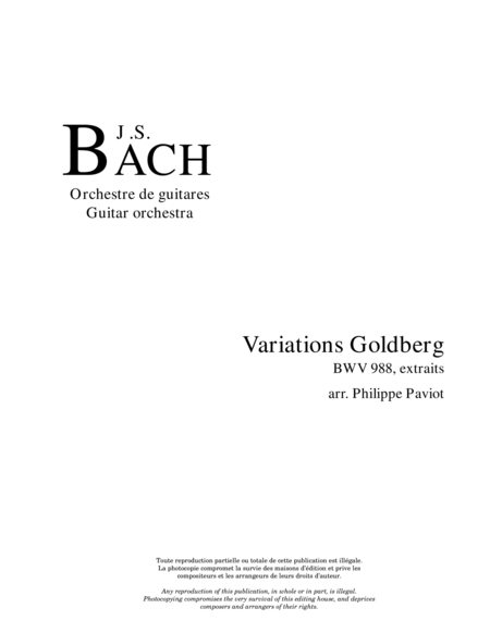 Variations Goldberg, BWV 988 (extraits)