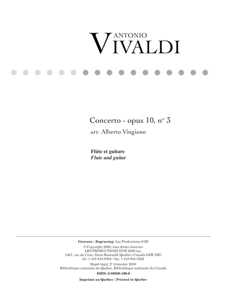 Concerto opus 10, no 3