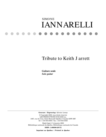 Tribute to Keith Jarrett