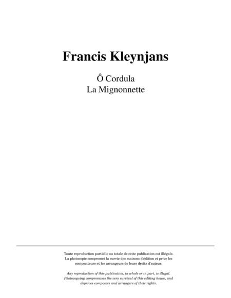 O Cordula, La Mignonnette