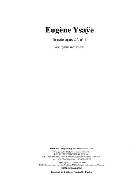 Sonate opus 27, no 1