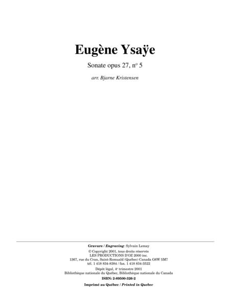 Sonate opus 27, no 5
