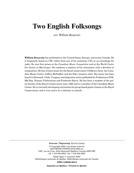 Two English Folksongs