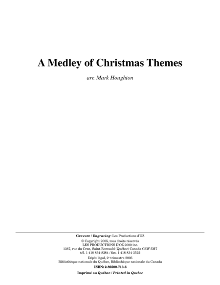 A Medley of Christmas Themes