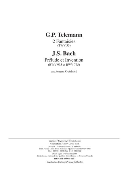 Telemann et Bach pour deux guitares
