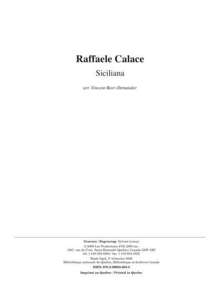 Siciliana, opus 78
