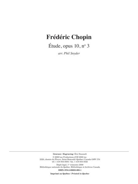 Etude, opus 10, no 3