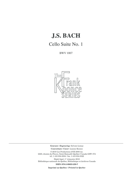 Cello Suite No. 1
