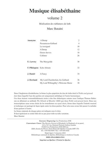 Musique elisabethaine, vol. 2
