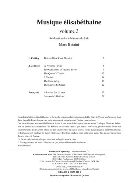 Musique elisabethaine, vol. 3