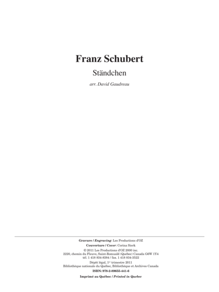 Standchen, Serenade D. 957